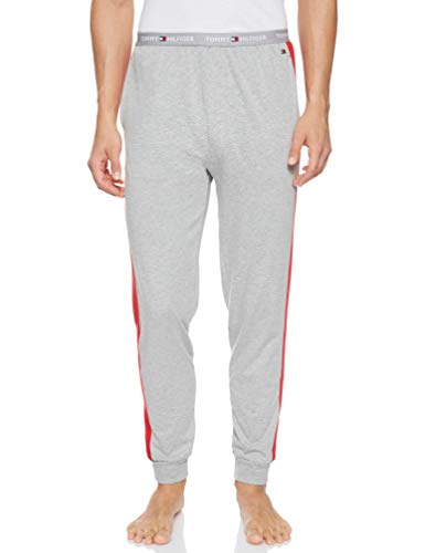 Tommy Hilfiger Jersey Panel Pant Pantalones térmicos, Gris (Grey 004), Small (Talla del Fabricante:...