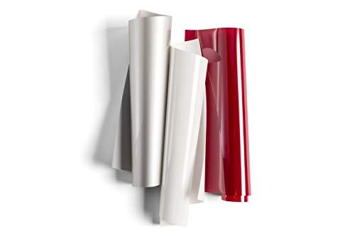 "Cricut Everyday Iron On Vinyl Sheets, 12"" x 12"" (3), DIY Supplies -  Merlot Sampler - Wine, White, Silver"