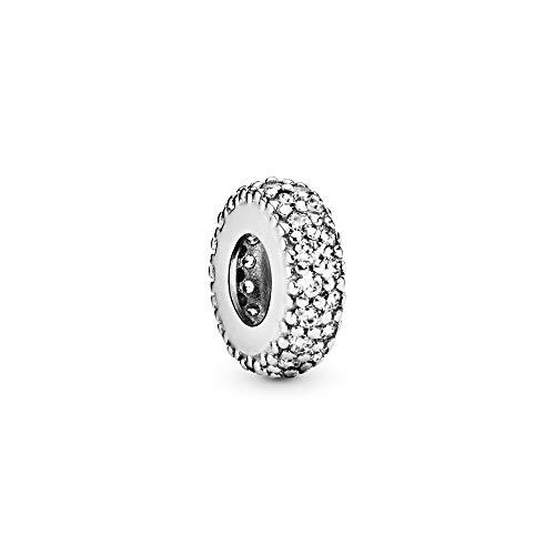 Pandora Moments Klares Funkelndes Zwischenelement Sterling Silber, Cubic Zirkonia 791359CZ