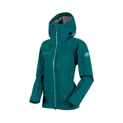 Mammut Damen Masao Hooded Hardshell-Jacke mit Kapuze, Teal, XS