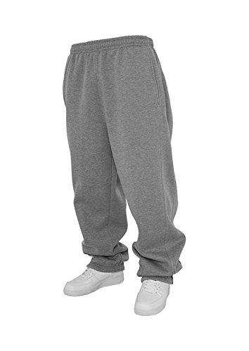 Urban Classics Jogginghose Sweatpants Trainingshose Tanzhose blanko zum Bedrucken Blank schwarz grau dunkelgrau charcoal S bis 5XL Farben Männer Herren Sporthose Fitnesshose Dance Hose (XL, grau)