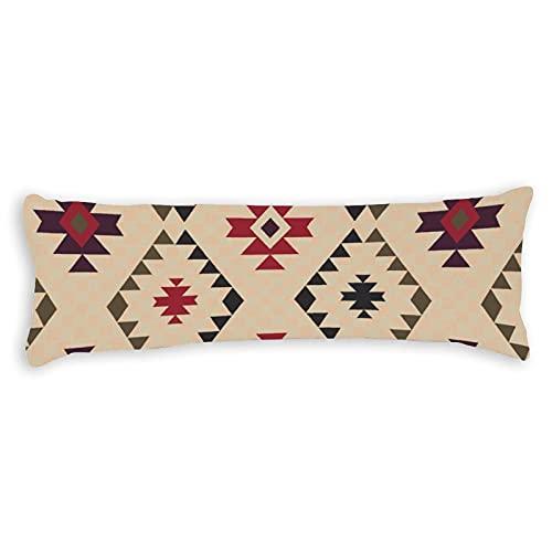 Funda de almohada para el cuerpo, 1,8 m, diseño simple, estilo vintage, funda de almohada de algodón, suave para embarazo, niños y adultos