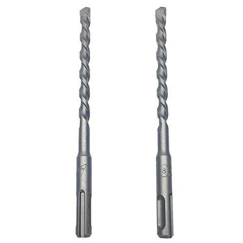 COMOK 2Pcs Carbide Drilling Tip SDS Plus Shank 8mm x 160mm Masonry Drill Bit for Drilling Holes in Masonry Concrete Rock and Artificial Stone