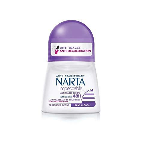 NARTA - Déodorant Femme Bille Impéccable 50Ml - Lot De 3