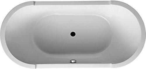 Duravit 70001200000Starck Badewannen/Duschwannen Badewanne Oval Form freistehend mit Acryl Panel und Unterstützung