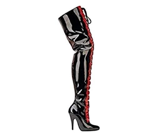 Disco -Schuhe Modische Catwalk High Heel Stiefel Sexy Damen-Lange Laufsteg Stiefel (39)