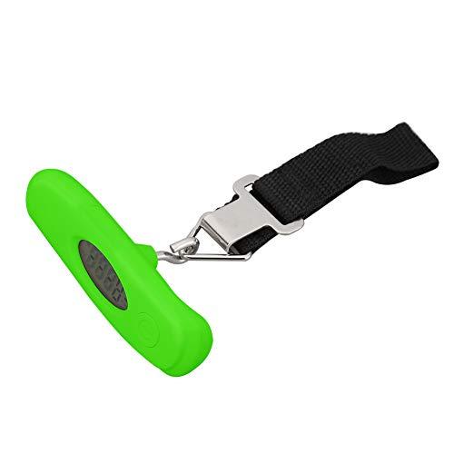Everpert 50kg/10g Báscula Digital de Precisión Balanza Electrónico de Mano para Viaje (Verde)
