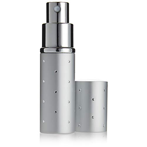 Fantasia - Vaporizzatore tascabile, con motivo a puntini, capacità: 10 ml, altezza: 9 cm, colore argento
