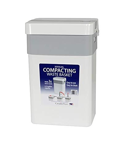 Product Image of the Creative Bath Manual Trash Compactor, 6.16 gallons, White
