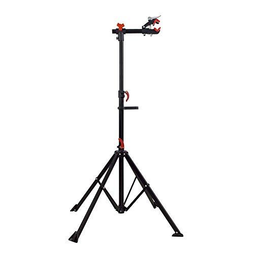 panthem Fahrrad Montageständer mit Magnetischer Werkzeugschale, 360° Drehbar Fahrradmontageständer Teleskopständer Zentrierständer Reparaturständer für Mountainbike Alle Fahrräder bis 30KG