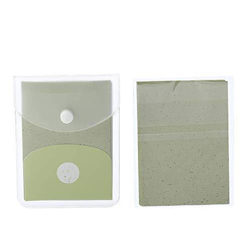 SNOWINSPRING 160 PièCes SéRies/Paquet Feuilles D'Huile pour le Visage Papiers Absorbants D'Huile Contr?le de L'Huile RéTréCir les Pores Outil de Nettoyage Du Visage, Paquet de 2, Vert