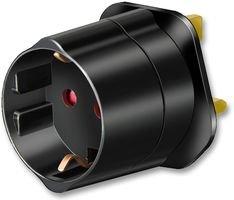 Brennenstuhl Reisestecker / Reiseadapter (Reise-Steckdosenadapter für: England Steckdose und Euro Stecker) schwarz