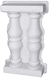 Jroyseter Molde para Valla de jardín Molde De Cemento De Columna Balcón Jardín Barandilla Valla Barandilla Moldes Escultura Moldeado para balaustrada DIY Pasarela Decoración al Aire Libre