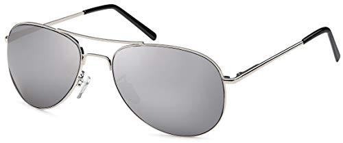 FEINZWIRN  Sonnenbrille Pilotenbrille inkl. Brillenbeutel aus Microfaser für das schmale Gesicht und Köpfe, unisex, Braun