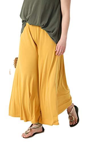 Damen-Hose, groß, Gelb/Senf, Stil Rock, Höschen aus Modal JeanMarcPhilippe Gr. 48-50, Gelb/Senf.