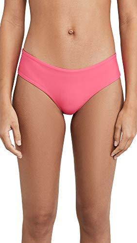 MIKOH Women's Bondi 2 Bikini Bottoms, Tahitian Punch, Pink, Small