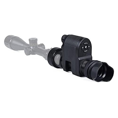 AJDGL Monoculares de visión Nocturna Digital Gafas para visores de Rifle, Foto de Video Cámara de Caza con láser infrarrojo de 850 NM para observación de la Oscuridad