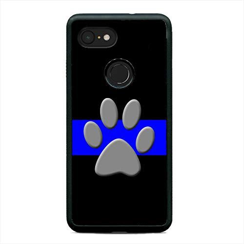 K-9 Police Dog Phone Case Thin Blue Line Slim Shockproof Hard Rubber Custom Case Cover for Google Pixel 3, 3XL, 2XL
