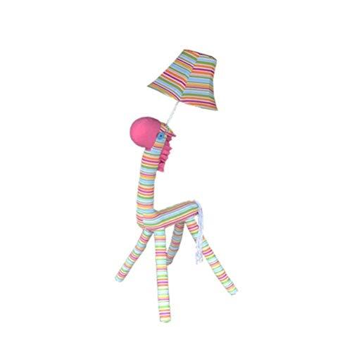 CLJ-LJ Lámpara de mesita de noche para niños en el dormitorio Sika de la princesa del cómic de Animal Lámpara de pie (Color Rosa)