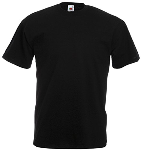 Fruit of the Loom Herren T-Shirt schwarz schwarz X-Large
