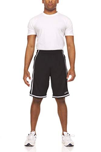 Spalding Extreme Performance - Pantalones cortos de baloncesto para hombre, Negro/Blanco, Small