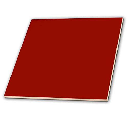 3dRose CT 159880_ 1Burgund Rot Dark Marroon Rostbraun Schamott Dark-barn rotbraun Uni einfache Farbe Keramik Fliesen, 10,2cm