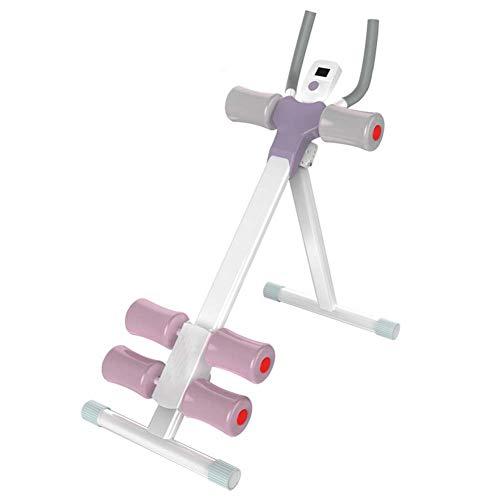 Massage-AED Máquina de Entrenamiento Abdominal Plegable Abdominales AB Roller, reposacabezas, Entrenador de...