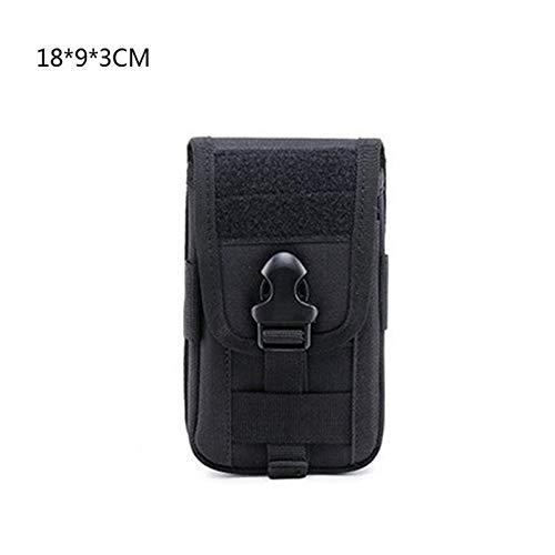 De múltiples fines Tactical Molle Wallet ID Funda Caja Monedero Bolso EDC Utility Gadget Pouch Cinturón Teléfono Teléfono Teléfono Bolsa de viaje Paquete de caza al aire libre para escalada al aire li
