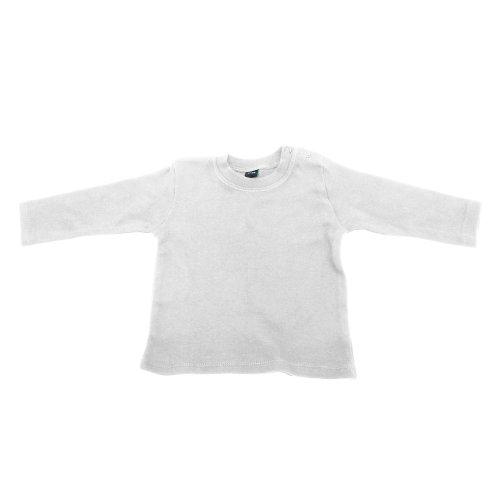 Babybugz Babybugz Baby Mädchen T-Shirt, Langarm (6-12 Monate) (Weiß)