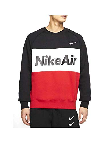 Nike Sudadera Air Black/University Negro/Rojo Hombre