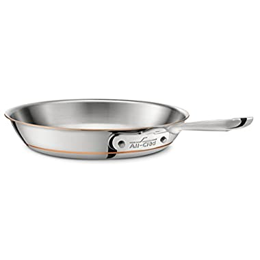 All-Clad 6108SS Copper Core 5-Ply Bonded Dishwasher Safe Fry Pan/Cookware, 8-Inch, Silver