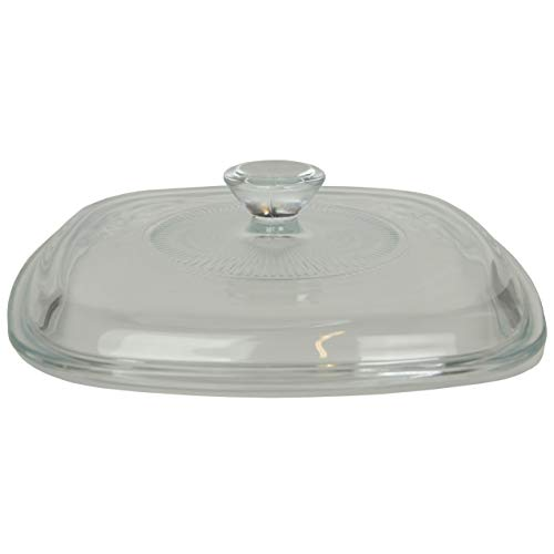 Corning Ware / Pyrex Clear Square Glass Lid ( Clear ) ( 6 1/2' Width ) ( A-7-C )