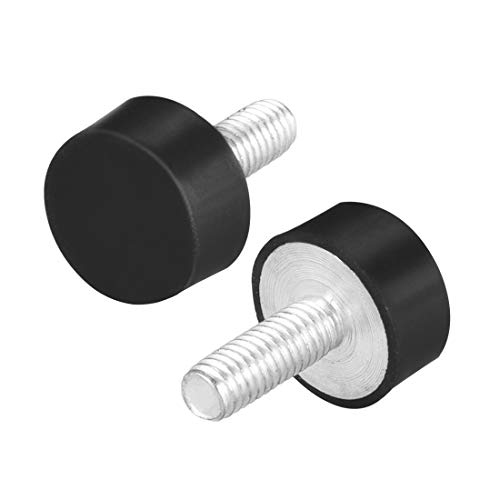 Sourcingmap - Soportes de goma con rosca M6, aisladores de vibración, amortiguador cilíndrico con tachuelas, 18 mm x 8 mm, 8 unidades