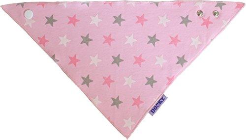 The Original Dooky Bavoir Bandana en coton, absorbant et réglable Pink Stars Azzurro con Stelle - Blue Stars