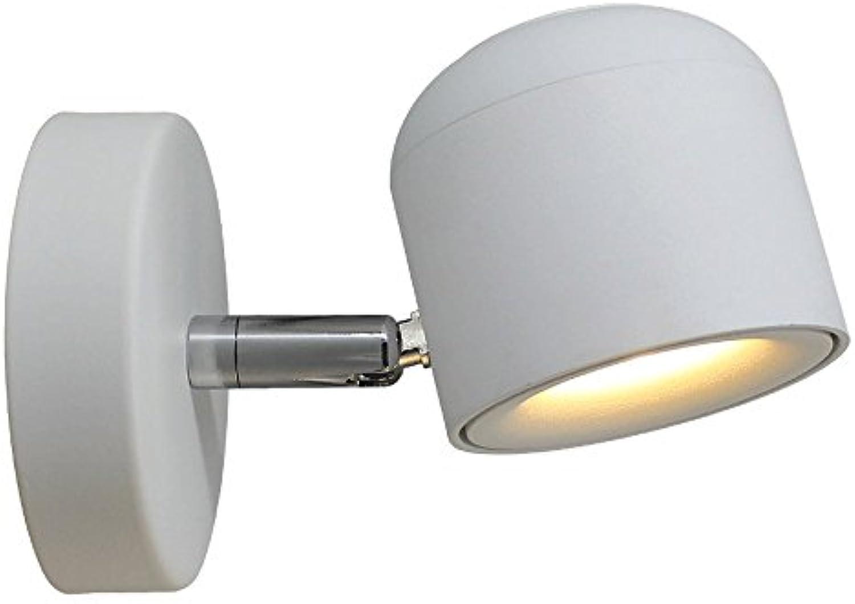 IBalody Einfache Kreative Einstellbare LED Wandleuchte Wandleuchte Mode Schlafzimmer Wohnzimmer Treppe Flur Gang Wand Laterne Lampe (Farbe   Weiß)