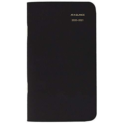 AT-A-GLANCE 2020-2021 Monthly Pocket Planner 2 Year, 3-1/2' x 6', Pocket Calendar, Black (7002405)