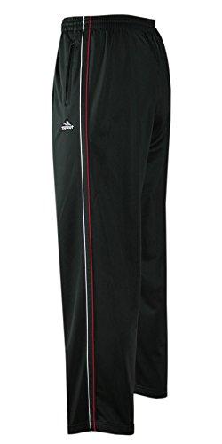 T-MODE Herren Jogginghose, Sport- Freizeithose offener Saum-Schwarz-2XL