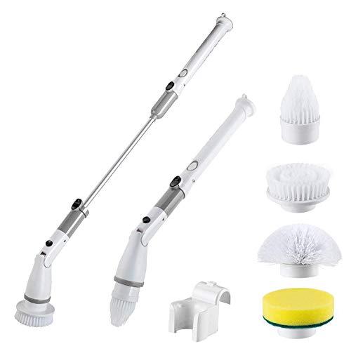 ZCFXGHH Spin Scrubber eléctrico con 4 Cabezales de Cepillo y Barra de...