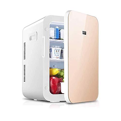 12.8L Dual-core affichage à double usage de voiture Réfrigérateur, Mini voiture Accueil à double usage petit réfrigérateur Cosmétique réfrigéré Froid chaud Boîte, Boîte réfrigérée pratique numérique é