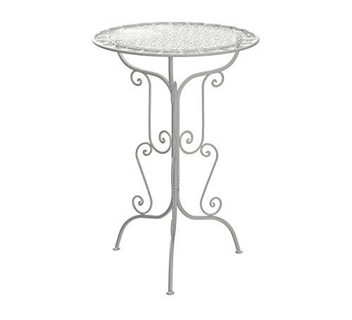 m unich sales Gartenhochtisch Stehtisch Vintage Rialto High, weiß Durchmesser Ø 70 cm, Höhe 105 cm