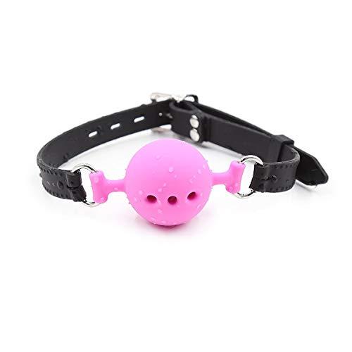 Silicona tapón de bola transpirable para los juegos de rol de Todos los Dias (rosa + negro, bola de 1,5 pulgadas)
