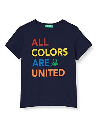 United Colors of Benetton 3I1XC14IH Maglietta, Blu (Peacoat 252), 86/92 Bimbo