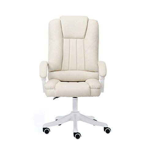 N/Z Home Equipment Mid Back Black Leather Swivel Task Office Chair Computer Desk Swivel Chair PU Faux Leather Administrative Task Gaming Boss Manager Chair with Armrest (Color : Black)