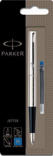 Parker Jotter - Pluma estilográfica con caja (adornos en cromo, punta media)