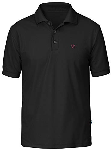 FJÄLLRÄVEN Crowley Pique Shirt M T-Shirt Homme Black FR: S (Taille Fabricant: S)