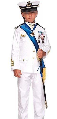 Fancy Me Italienische Herstellung Jungen Weiß Marineoffizier Matrose Karneval Kostüm Kleid Outfit 3-12 Jahre - 12 Years