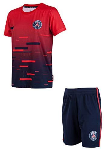 PARIS SAINT GERMAIN Set Trikot mit Shorts PSG, offizielle Kollektion, Kindergröße, Jungen 10 Jahre rot