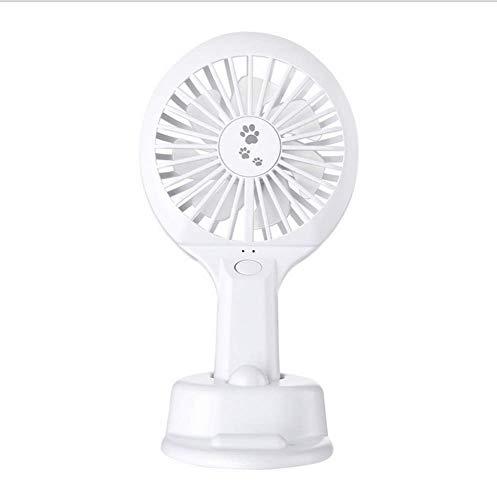 Mini Ventilatore da Tavolo Estivo da Ping Pong, Porta Cellulare Portatile da Esterno per Studenti All'Aperto, WOZUIMEI, bianca