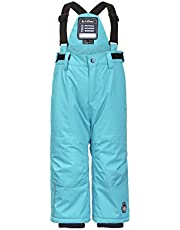 Killtec Jordy Mini Pantalón de esquí Funcional con Correas y protección contra la Nieve, Unisex niños