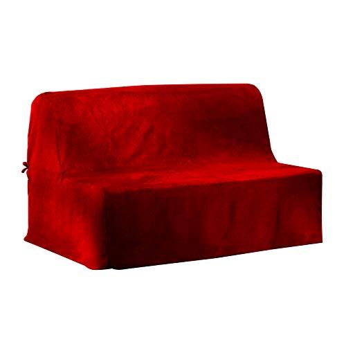 Antonouse - Funda acolchada para banco BZ 140, color rojo 120 y 200 x 140 cm